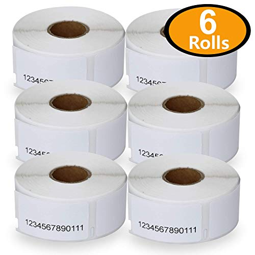 "6 Rolls Dymo 30330 Compatible 3/4"" x 2""(19mm x 51mm) Multipurpose/Return Blank Address Labels"