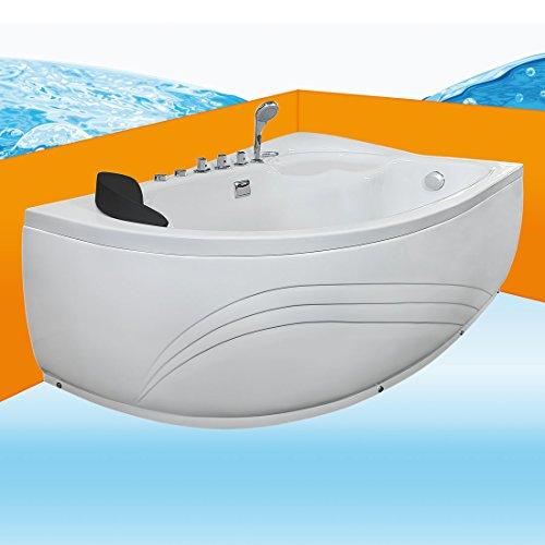 Eckwanne Whirlpool Raumsparwunder Pool Badewanne A617-B-ALL 160x100, Selfclean:ohne +0.-EUR, Sonderfunktion1:Ausstattung B +50.-EUR