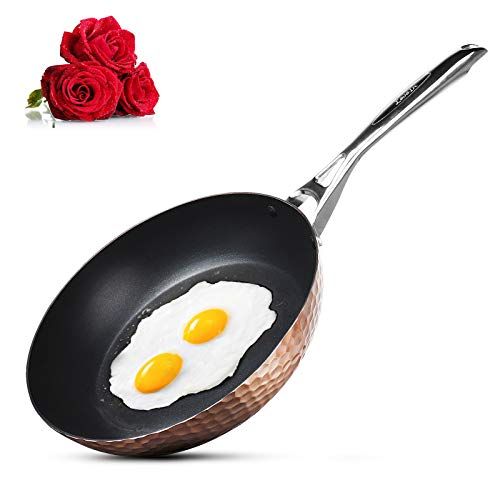LovoIn Non-Stick frying Skillet Pot and Pan,9.5-Inch best Cookware pan Kitchenware Cooking New Version Hammered cookware set,Induction Dishwasher/Oven/Stovetop