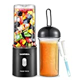 UPGRADE Portable Blender Juicer Cup, 4000mAh Battery Personal Size Blender For Shakes and Smoothies, 13.5 Oz Travel Blender Bottles With USB Rechargea