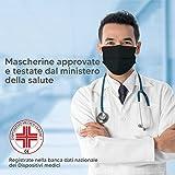 Zoom IMG-1 50 mascherine chirurgiche nere made