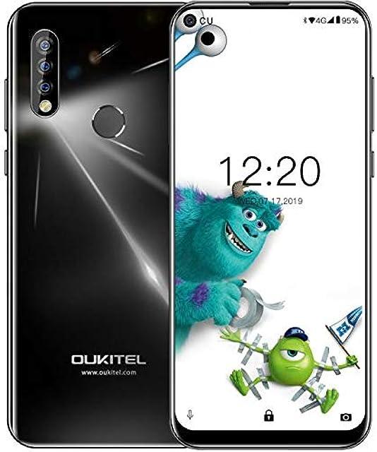 OUKITEL C17 Pro 4G Móviles(2019) Android 9.0 - Pantalla Completa de 6.35 Pulgadas de Agujero Ciego4GB+64GBHelio P23 Octa Core Dual SIM Teléfono 13MP Cámara de Gran Ángular3900mAh BateríaNegro