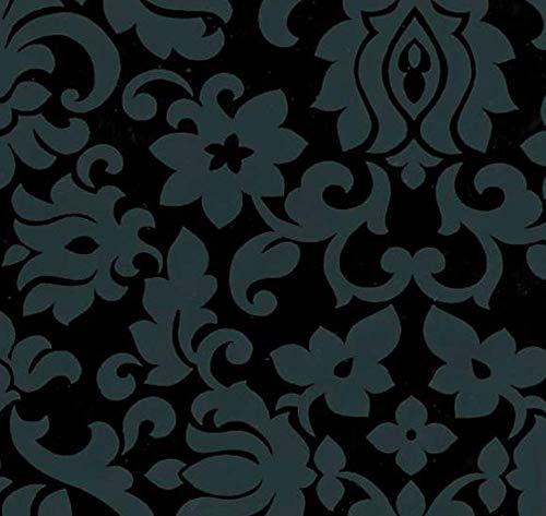 Klebefolie Möbelfolie Ornamente schwarz grau 45 cm x 200 cm Dekorfolie Barock Selbstklebefolie