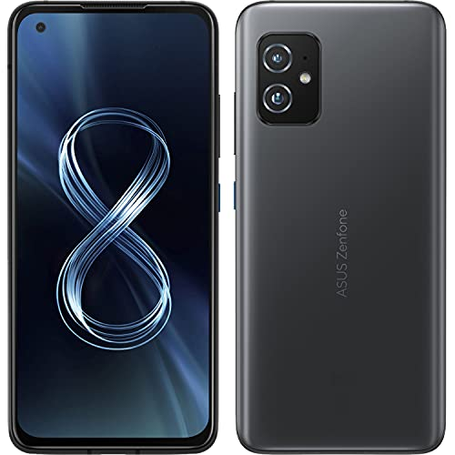 ASUS Zenfone 8 ZS590KS-2A009EU - Smartphone 5G, pantalla de 5,92 pulgadas AMOLED 2400 x 1080 120 Hz, 256 GB, RAM 8 GB, 3 cámaras, 4000 mAh, Dual SIM, (2021), Obsidian Black