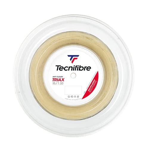 Tecnifibre Triax Cuerda de Tenis, Unisex Adulto, Natural, 1.28 / 12m