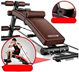 LAMTON Flachbank, Bank Einstellbare Gewicht Multi-Funktions-Workout Bench Professionelle...