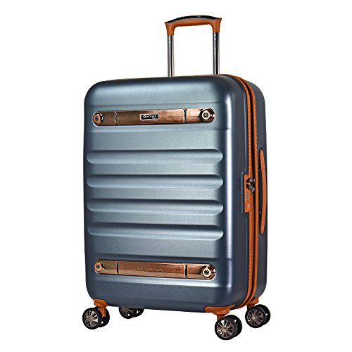 Eminent Suitcase Gold Nostalgia 66 cm 73 L Polycarbonate Hard Shell 4 Silent Double Wheels TSA Lock Graphite