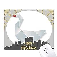抽象的なガチョウの折り紙のパターン クリスマスイブのゴムマウスパッド