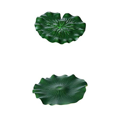 Fenteer 4X Reptile Lebensechte Wassergras Aquarium Simulation Lotuspflanzen für Reptilien