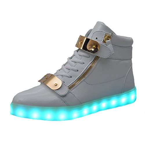 Topteck LED Luz Luminosos Light Up Flashing Sneakers Tenis Deportivos de la Tenis
