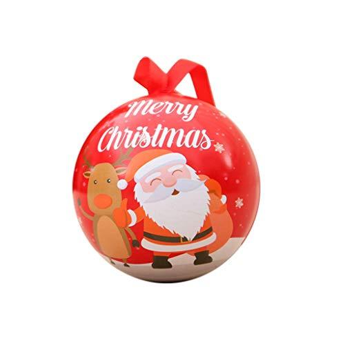 DQANIU Weihnachtsdekor, Multifunktions Kinder Weihnachtsgeschenke Eisen Vorratsdose Pralinenschachtel Wohnkultur Weihnachtsbaum Dekoration Kugel, 7 X 7 cm