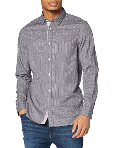 Tommy Hilfiger Slim Jaspe Micro Check Shirt Camisa para Hombre