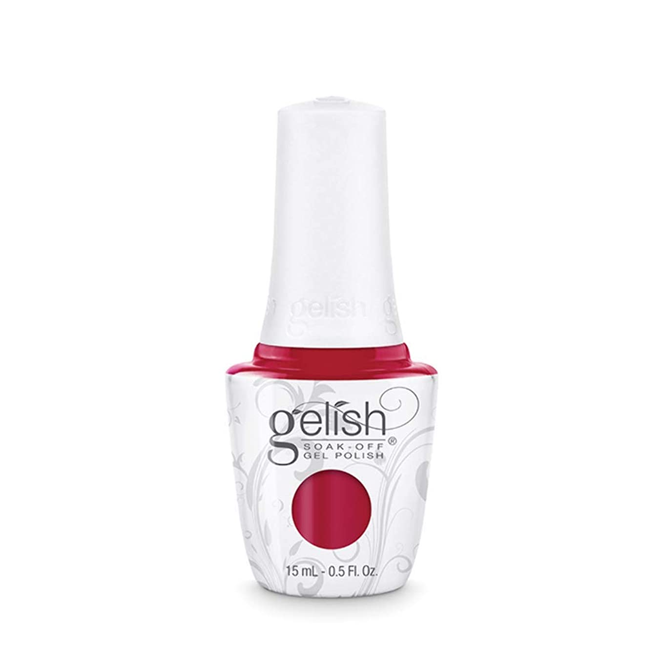 インカ帝国喉頭豊富にHarmony Gelish Gel Polish - Hot Rod Red - 0.5oz/15ml