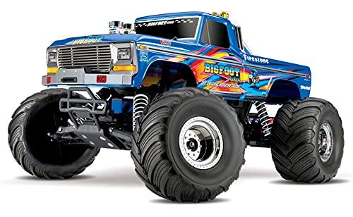 Traxxas Bigfoot - 4x2 - 1/10 Brushed TQ 2.4GHZ - ID - 36034-1 (Blu)