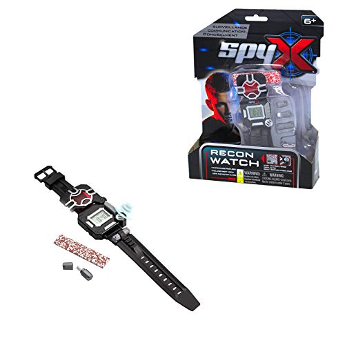 SpyX/Spy Recon Watch -8 Function Spy Toy Watch. Extra Functions Include: Led Light, Stopwatch, Alarm, Decoder, Secret Message Paper, Message Capsules, Motion Alarm. for Your spy Gear Collection!