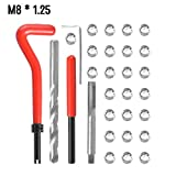 KKmoon 30Pcs Filetage Métrique Réparation Insert Kit M5 M6 M8 M10 M12 M14 Helicoil Voiture Bobine Pro Outil M8 * 1,25