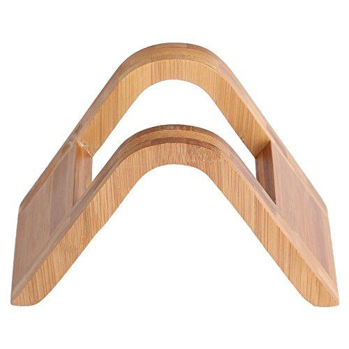 Fdit Holz-Kaffee-Filter, Bambus, Kaffee-Spender, Ablage aus Holz und Papier für Espressomaschine