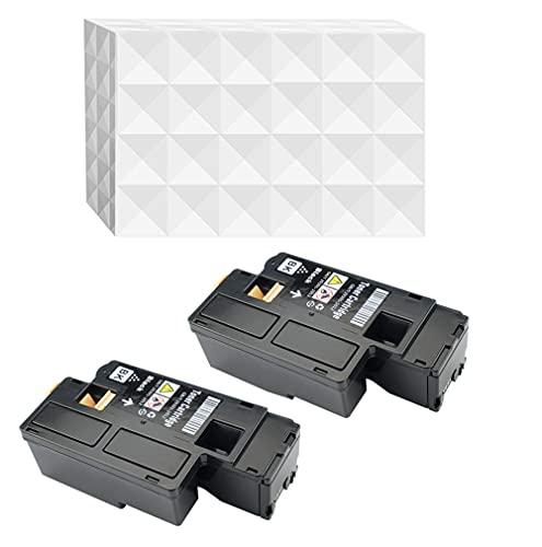 2XSchwarz E525 E525W kompatibler Toner für Dell E525 E525W schwarz Cyan Magenta gelb Schwarz je 2.000 Seiten.