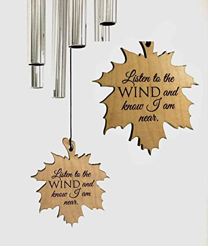 Memorial Maple Leaf Wind Chime Silver 26 PRIME Shipping for Funeral Loss in Memory of Loved One Wind Chime for Memorial Garden Remembering a Child stillborn