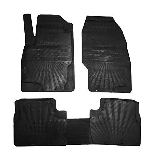 RE&AR Tuning Alfombrillas de goma para Opel Corsa D 2007 – 2014, color negro