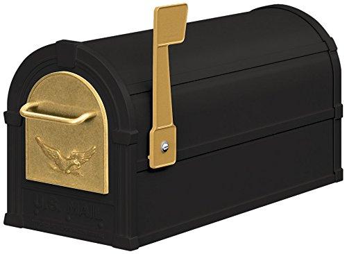 Salsbury Industries 4855E-BLG Eagle Rural Mailbox, Black/Gold
