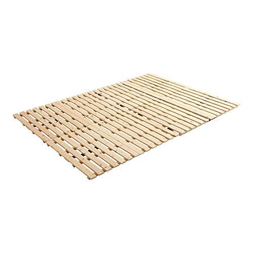 ヒノキのすのこベッド すのこマット ダブル 2つ折り 折り畳み 二つ折り 檜 木製 湿気対策 スノコ オールシーズン使えるすのこベッド 梅雨や冬の時期にも 省スペース フロアベッド ローベッド