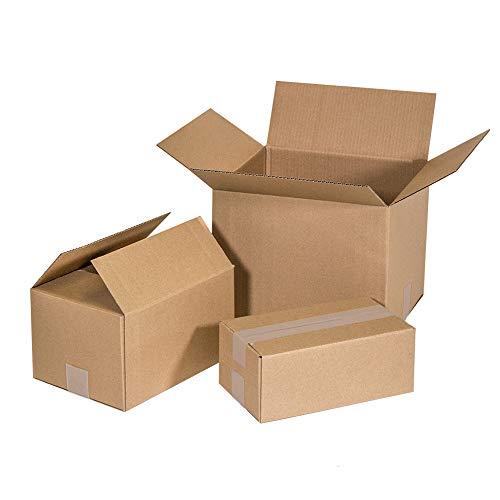 Kartox | Cajas de Cartón | Canal Simple Reforzado | Caja almacenaje | 25x20x15 | 25 unidades