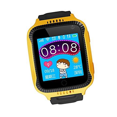 MERIGLARE Niños GPS Reloj Inteligente Smartwatch Teléfono HD Pantalla táctil Contador de Pasos Grabadora Alarma Reproductor de música Niños Niñas - Naranja