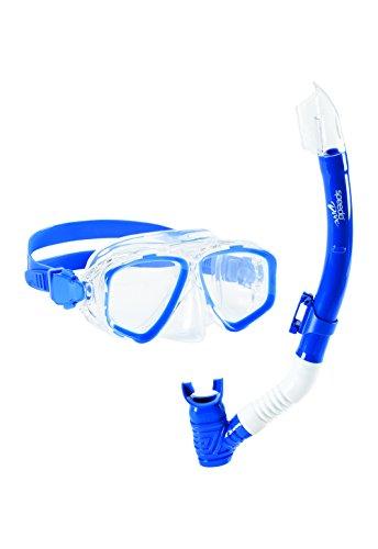 Speedo Junior Recreation Mask Snorkel Set 1Size, Blue/Sea