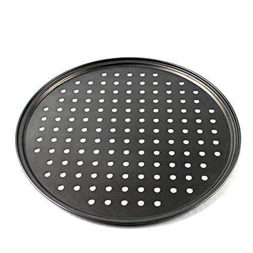 Innovador Home Cocina Hogar Herramientas para hornear Herramientas de carbono Perforado ACERO ANTERIOR PIZZA DE PANTÍCA DE PANTENERA DE PANTÍCA DE PIZZA PLACA PULSOS TITULAR (Color : 12 inch)