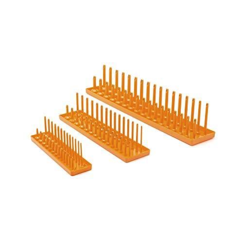 GearWrench 3 Pc. 1/4', 3/8' & 1/2' Drive Orange Metric Socket Storage Tray Set - 83119
