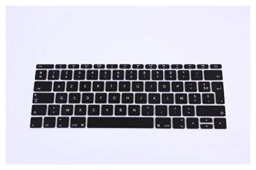 Protector de teclado de silicona para MacBook Pro de 13 pulgadas A1708 (versión 2016, no Touch Bar) para 12 pulgadas A1534 Retina para protección de teclado (color: negro)