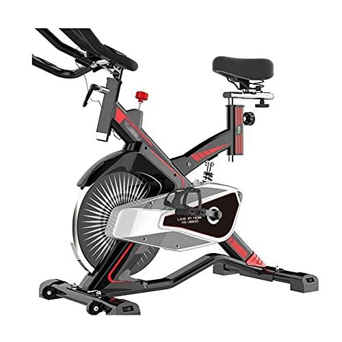 SAFGH Biciclette da Fitness per Esercizi in Posizione Verticale Bicicletta da Allenamento per Allenamento Indoor con Display LCD Multifunzione, Manubrio Regolabile, ripiano per Gomiti e Sedile con