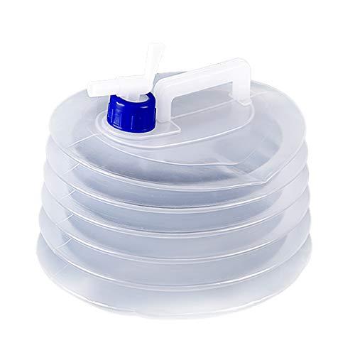 adad Campinggeschirr-Wasserkanister Klappbarer Wasserspeicherbeutel | Tragbarer Wasserspeichertank | 3L8L15L | Mit Wasserhahn | Picknickcamping (Color : Clear, Size : 8L)