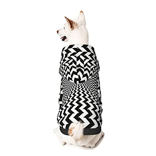 Optical Illusions Art Psychedelic Pet Dog Hoodie,Fashion Pet Clothes Basic Jumper Sweatshirt,Cotton Pet Supplies for Small Dogs Dog Costumes Coat Shirts