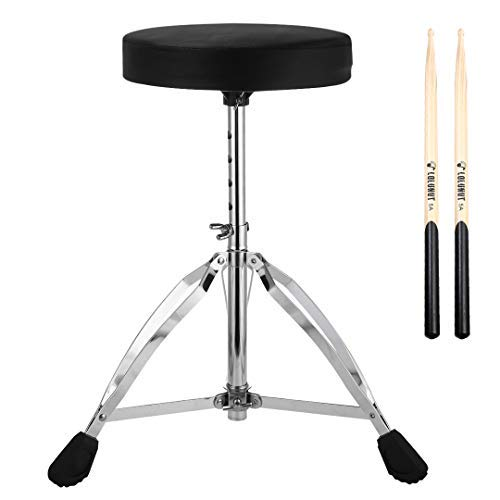 Drum Throne,Height Adjustable Tripod Stool,Portable Folding Padded with 5A...