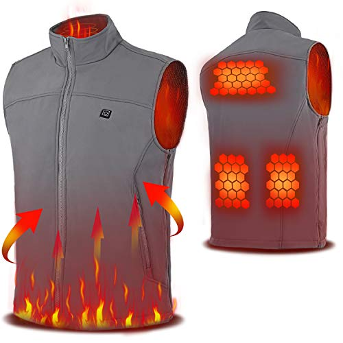 Vinmori USB Electric Heated Vest, Lightweight Heated Clothing Waistcoat Free Size(M-XXXXL)(Battery Not Included)