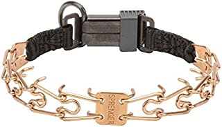 Herm Sprenger Curogan Ultra-Plus Prong Collar for Siberian Husky with Center-Plate and Click Lock Buckle - 2.25 mm x 16 inches