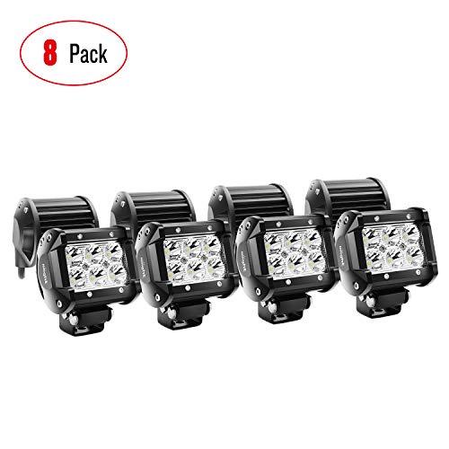 Nilight - NI 06A-18W LED Light Bar 8PCS 18W 1260lm Spot led pods...