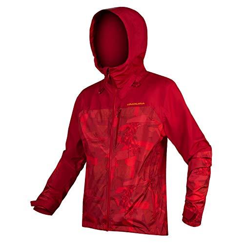 Endura SingleTrack Jacket - wasserdichte Jacke - Rot Größe XL