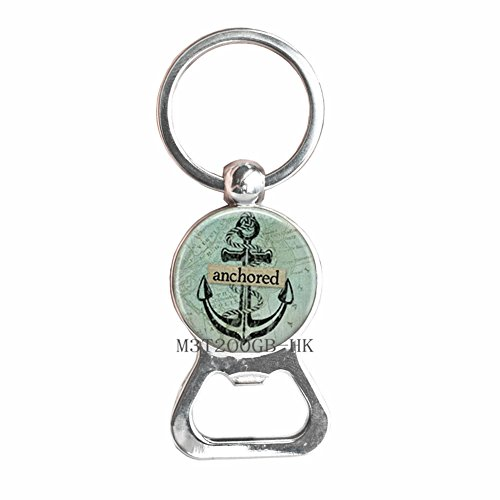 Anchored Anchor Bottle Opener Keychain Anchor Key Ring Marine Ocean Sea Anchor Key Ring Jewelry Gift Ideas for her-MT283