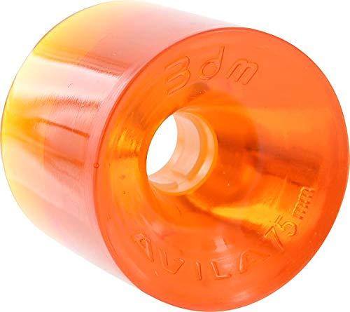 3DM Avalon Longboard Slalom Racing Rollen – 68 mm Durometer-Optionen erhältlich, Orange - 78a