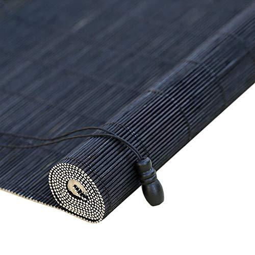 Jcnfa-Rolgordijn Bamboe Rolgordijnen, Bamboe Roll Up Window Blind Zonneschaduw, Licht Filteren Rolgordijnen, Brede afstand