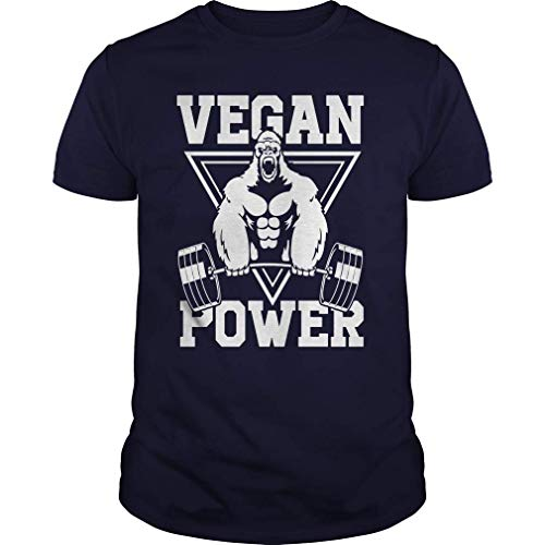Harry wang Maglietta a Maniche Lunghe per Allenamento Vegan Power Muscle Gorilla Gym Tee L