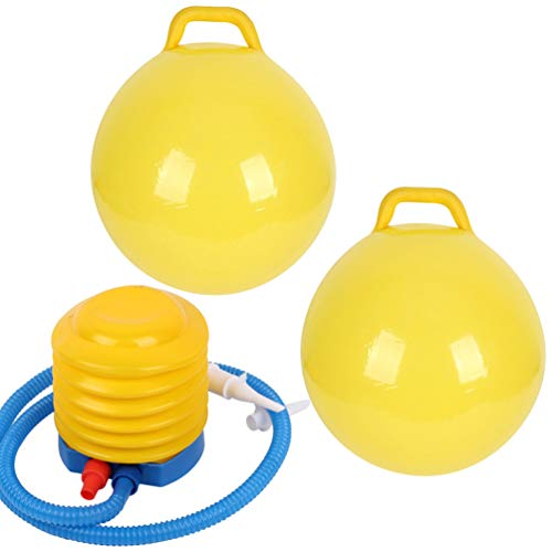 CLISPEED 2 Stück Hopper Ball Kinder Hüpfball mit Griffen Balance Ball Und Ball Stuhl für Kinder (1 Stück Ball + 1 Stück Pumpe)