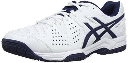 ASICS Gel-Dedicate 4, Zapatillas de Tenis para Hombre, Blanco (White/Navy/Silver 150), 44.5 EU