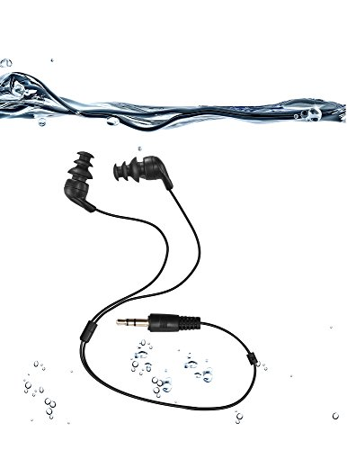 Joyroud Auriculares 100% Impermeables (Auricolari), Cortos, con 3 Auriculares Tipo para una Especie de Deporte (P.s:Only Waterproof Headphones Without mp3 Player