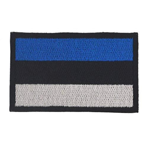 ShowPlus Aufnäher Estland-Flagge, Militär, bestickt, taktischer Patch (Estland)