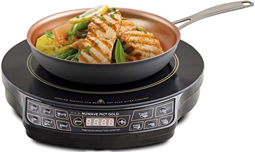 NUWAVE Lightweight Induction Cooktop With 10.5 in Fry Pan, 10.8 A, 1500 W