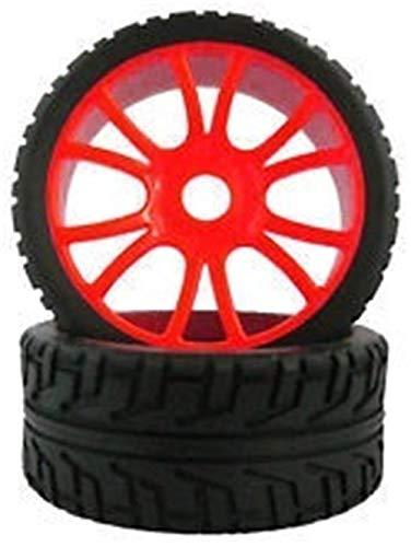 Nuovo 4PCS RC 1/8 Pneumatici per camion in gomma per buggy per auto da strada Pneumatico in gomma da 100 mm Adattatore esagonale per cerchioni in plastica 17MM per 811 8sc 94763 84-803 Accessori per p